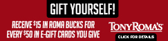 Tony Roma's Roma Bucks Promotion
