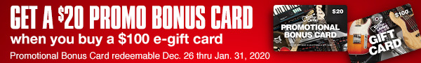 Get $120 in Guitar Center Gift Card for $100