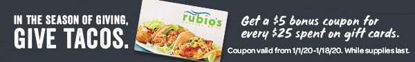Get $5 Bonus Coupon for Every $25 GC Purchase